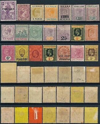 British Colonies, Unchecked Lot Of 21 Different Mint Stamps, See..   #E157