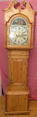 Unusual Pine Victorian Long Case/Grandfather Clock - CHICHESTER COLLECTION ONLY