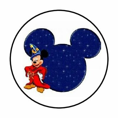 """48 Mickey Mouse Fantasmic Envelope Seals Labels Stickers 1.2"""" Round"""