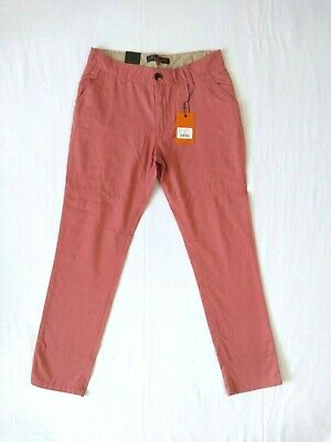 BEN SHERMAN Slim Fit Cotton Chinos Trousers Pink Boys 12-13 Years