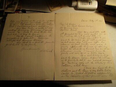 1897 Cornell College letter from Civil war Colonel Rood Mt Vernon Iowa