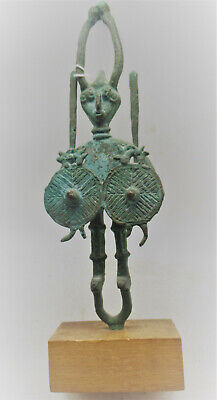 Circa 1200-800Bce Ancient Luristan Bronze Warrior Statuette Extremely Rare