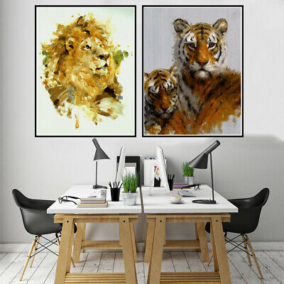 Lion Elephant Panda Animal Prints Canvas Oil Painting Poster Home Art Wall Decor