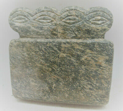 Circa 6000Bce Ancient Syro Tell Brak Stone Carved All Seeing Eye Idol Very Rare