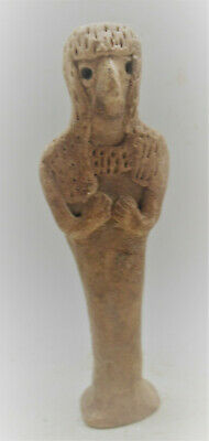 Circa 1000Bce Ancient Syro-Hittite Terracotta Fertility Figure Goddess