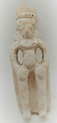 Ancient Greek Terracotta Figurine Of A Standing King Circa 400-500Ad Rare