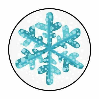 "48 Christmas Winter Snowflake Envelope Seals Labels Stickers 1.2"" Round"