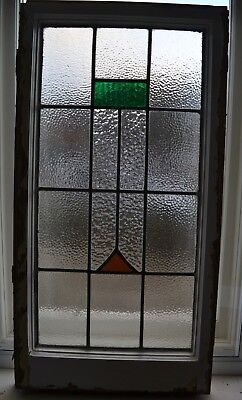 1 art deco leaded light stained glass window sash. R872a.