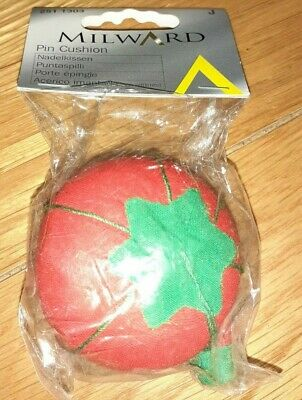 Millwards tomato pin cushion with little strawberry attached - new