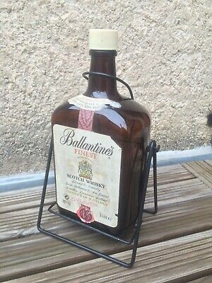 Ballantine's Bouteille Verre 3L + Support Whisky 300cl Glass Bottle Bar Whiskey