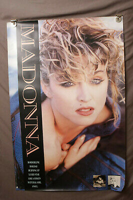 Original Madonna borderline Promo Poster 1985 sire records Printed In USA vtg