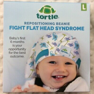 Tortle Lucky Elephant Adjustable Repositioning Beanie,Corrective for Flat Head L