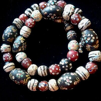 Antike Venetian Trade Beads AfrikaKette, French Ambassador,Skunk and Fancy Beads