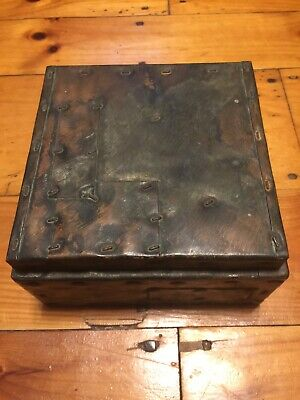 Good condition Paul Evans Humidor Box, Argente Patchwork, Signed