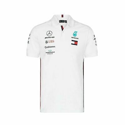 Mercedes AMG Petronas Motorsport F1 Men's Team Polo Shirt, white, S, M, L, 2019