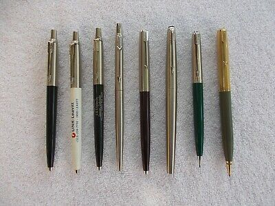 8 Vintage PARKER Ballpoint PENS, Floating BALL and Mechanical PENCILS