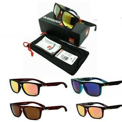 Quiksilver Men Women Sunglasses Sports Square Frame Sports Driving Glasses UV400