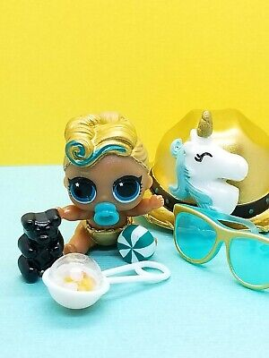 LOT 2 Pcs LOL Surprise 24k gold LUXE queen doll LiL Sisters L.O.L toy Authentic!