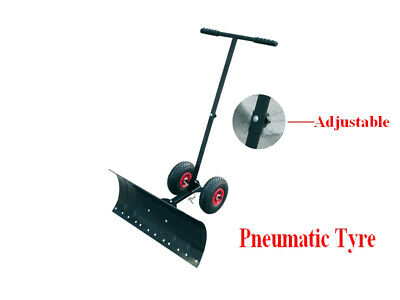 Adjustable Wheeled Snow Shovel Pusher Rolling Snow Plow Shovels Snow Removal
