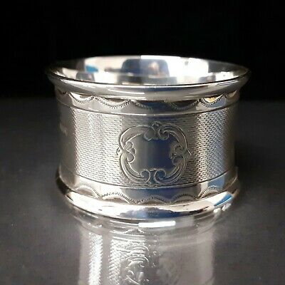 Solid Silver Victorian Napkin Ring Mint Condition Ready for Presentation