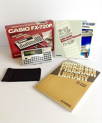 Casio FX-720P Ram Card System Personal Programmable Computer Calculator Vintage