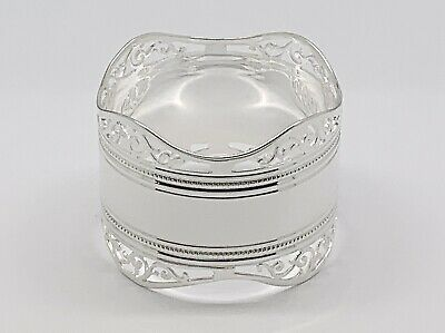 Stunning Late Victorian Silver Napkin Ring Mint Condition Ready for Presentation