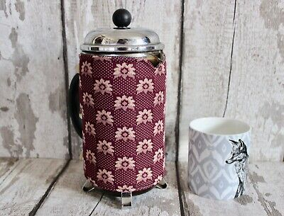 Recycled Vintage Coffee Cosy. French Press Cozy Cafetiere Warmer Retro Cozies