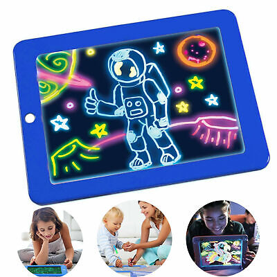 Neu 3D Magic Drawing Pad LED Writing Board