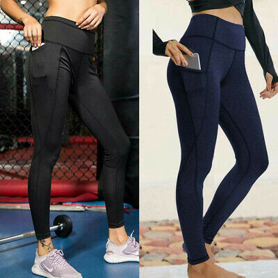 Womens Yoga Gym Anti Cellulite Compression Leggings Push Up Fitness Sport Pants