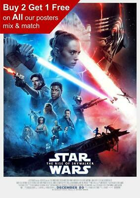 Star Wars The Rise Of Skywalker 2019 Movie Poster A5 A4 A3 A2 A1