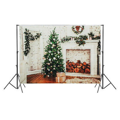 AU 5*7FT Christmas Tree Photography Background Photo Studio Props Backdrops Xmas