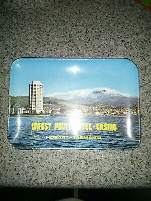 LATE 1960/1970 WREST POINT HOTEL CASINO HOBART MELAMINE SMALL TRAY approx 14cm