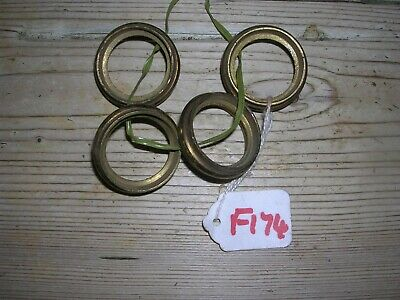 Set Of Four Antique Brass Castor Collars  (F174)