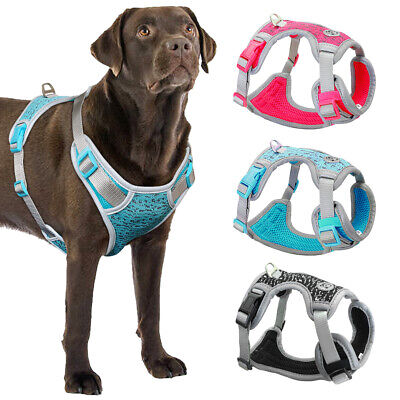No Pull Dog Harness Reflective Adjustable Pet Padded Outdoor Safety Vest Pitbull