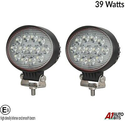 Two Powerful 39w Led 5.7'' Oval Led Work Lights 12V 24v For Lorry Trailer Cab E9
