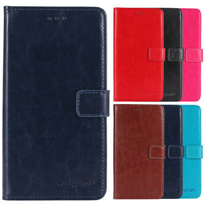 Leather Protection Cover For Cubot Doogee Homtom Shell Wallet Etui Skin Case New