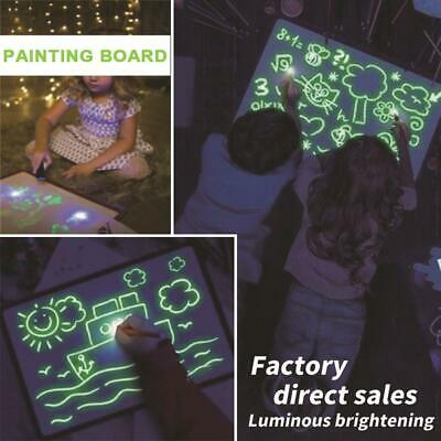 Light Drawing Board Sketch Pad Doodle Writing Craft Art for Children Kid Gifts