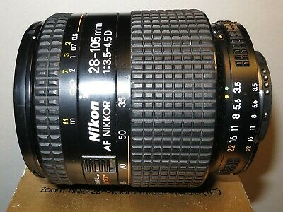 Used Nikkor 28-105 F3.5 to F4.5D (IF) in very good condition.