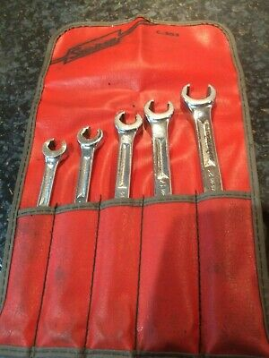Snap On 5 Piece Flare Nut Double Ended Spanner Set