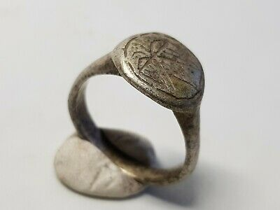 Scandinavian Medieval Ring with Raven 12th,13en Century AD