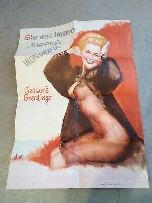 1940 - 50s BUDWEISER BEER COMPANY HARD TO FIND PIN UP GIRL POSTER - POSTCARD!