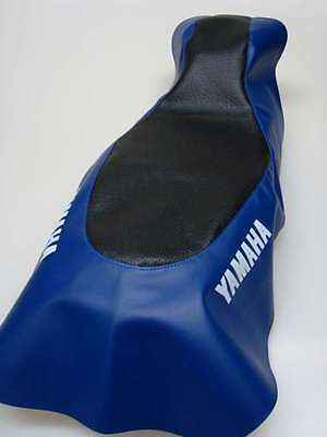 Motorcycle seat cover - Yamaha TTR250 in black & blue