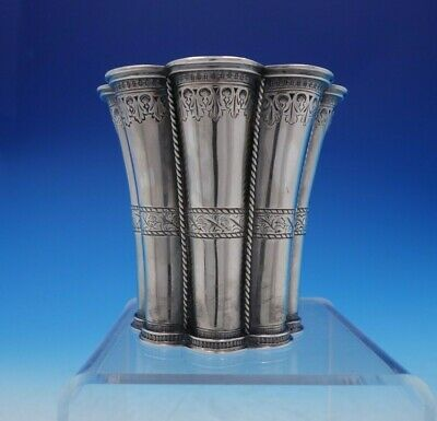 "Michelsen Danish Sterling Silver Beaker / Tumbler Applied Rope 3 1/2"" (#3820)"