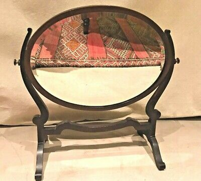 Antique Victorian Oval Dressing Table Mirror Free Standing Tilting