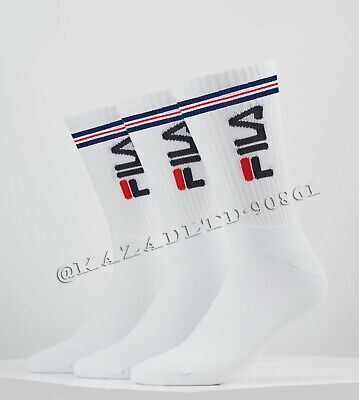 FILA Mens Women Crew Socks Long Thick Heavy Duty Winter Cushioned Gym Sports lot