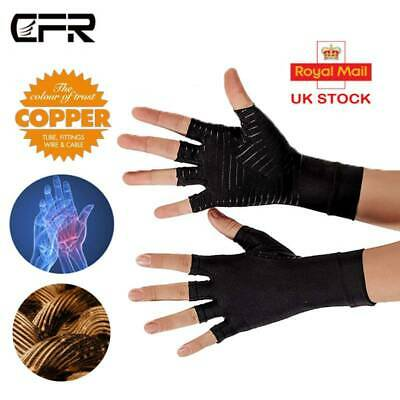 Copper Anti Arthritis Gloves Compression Hand Support Carpal Tunnel Pain Brace P