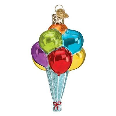 """""""Balloons"""" (36259)X Old World Christmas Glass Ornament w/OWC Box"""