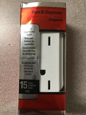NEW! Legrand-Pass & Seymour Outlet 15 Amps 125V  White