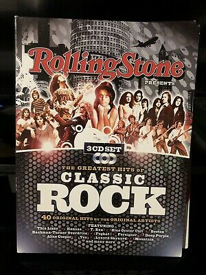 ROLLING STONE - Rolling Stone Presents: Greatest Hits Of Classic Rock - 3 CD Set