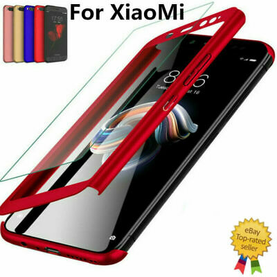 360° Full Cover Case + Tempered Glass For Xiaomi Redmi 4X 4A Note4 Note4X S2
